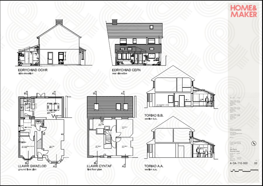 Planning rules may be slightly different in Wales to the rest of the UK, but this locally inspired home flew through the application.